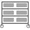 storage cart / steel / shelf / multipurpose