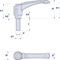aluminum profile / grooved