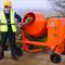 diesel concrete mixer / mobile / reversing drum / traditional