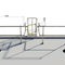 free-standing railing / with automatic closure / galvanized steel / for ladder access points