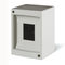 wall-mounted electrical enclosure / modular / thermoplastic / power distribution