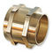 hydraulic adapter / for pipes / threaded / nickel-plated brass