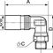 screw-in fitting / 90° angle / hydraulic / chrome