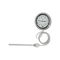 gas expansion with capillary thermometer / dial / insertion / stainless steel