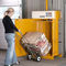 vertical baling press / front-loading / for cardboard boxes / for waste
