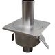 siphon with sealing collar / floor / stainless steel / round tank