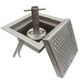 floor siphon / stainless steel / square tank