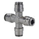 pneumatic fitting / push-in / straight / elbow
