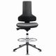 clean room swivel chair / ergonomic / with step-up rail / anti-static