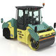 tandem road roller / combination / articulated