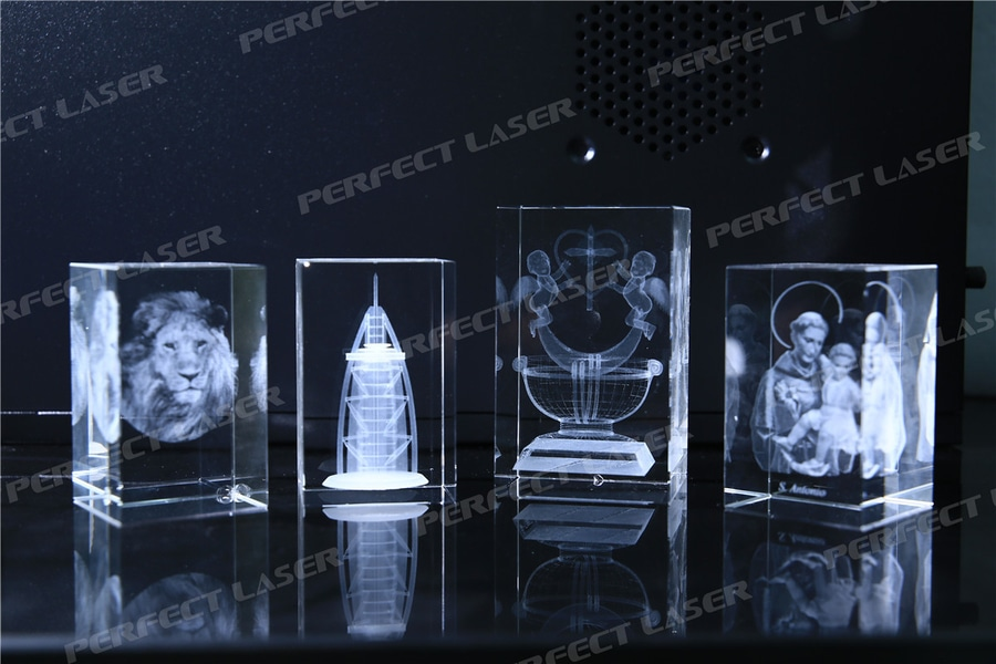 3D Crystal Laser Engraving Machine Engraved Monroe portraits in the