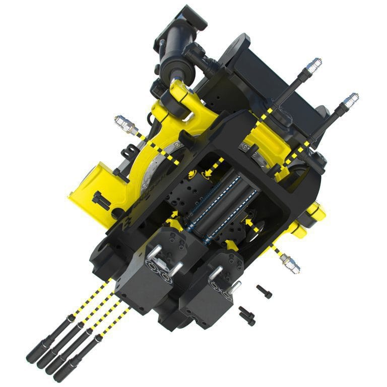 Engcon grab, sweeper tiltrotator attachments now connect