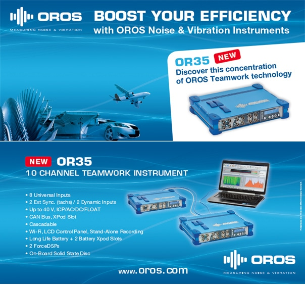 New OR35 10 channel completes the OROS Teamwork noise and vibration