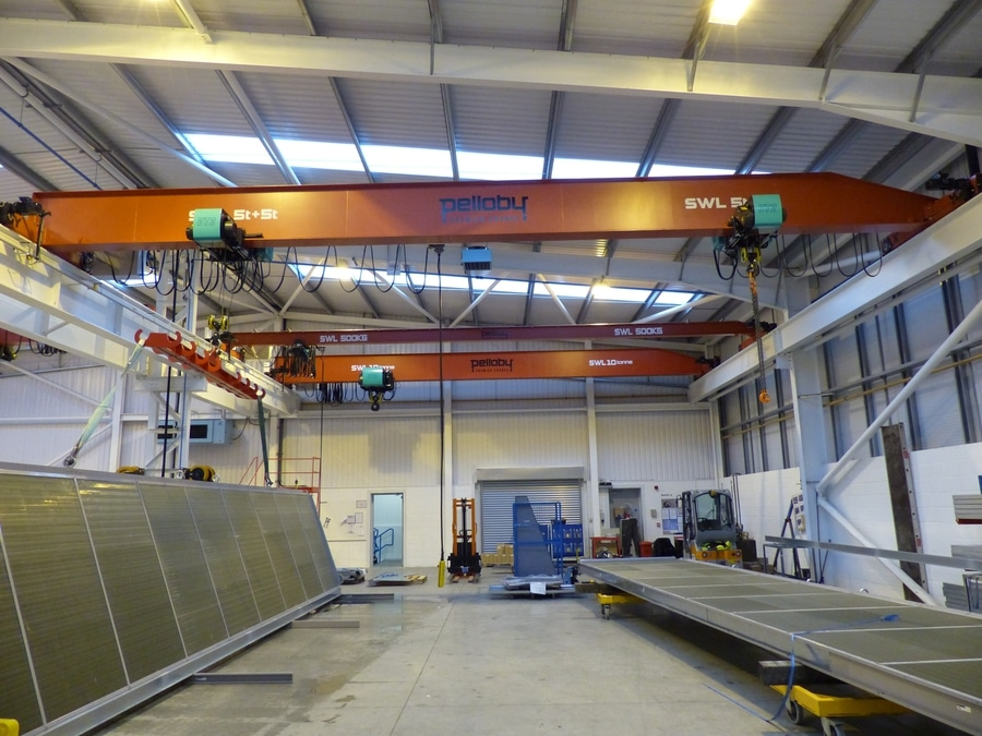 PELLOBY Cranes and VERLINDE hoists installed following