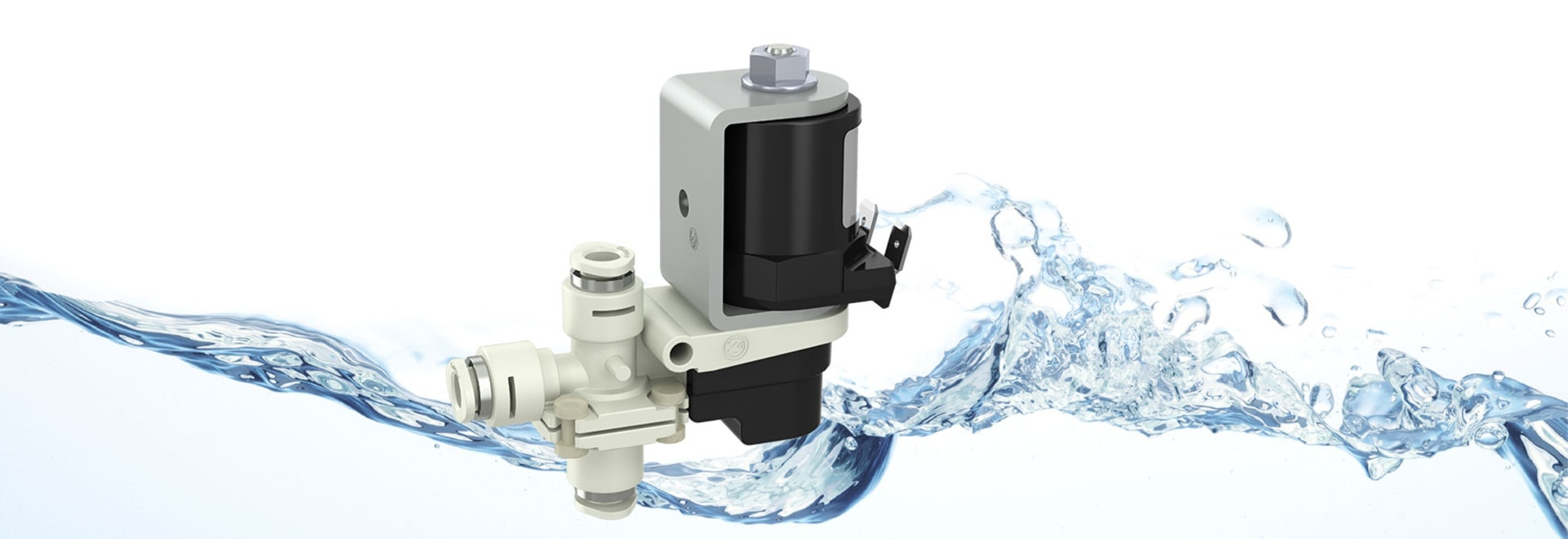 3/2-way lever valves with push-fit connectors for high temperatures