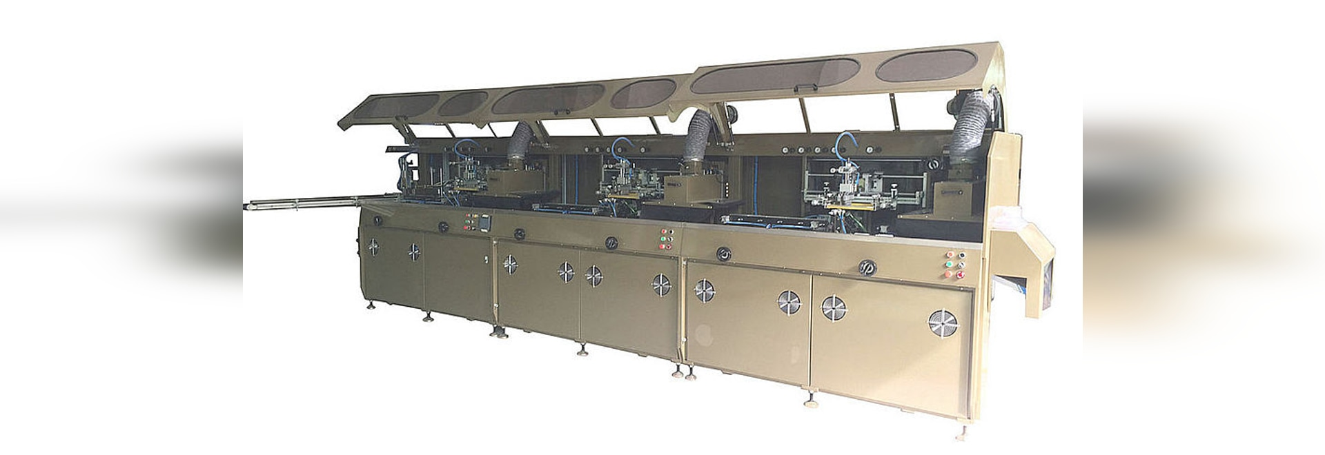 3 Color Automatic Silk Screen Printing Machine For Bottles