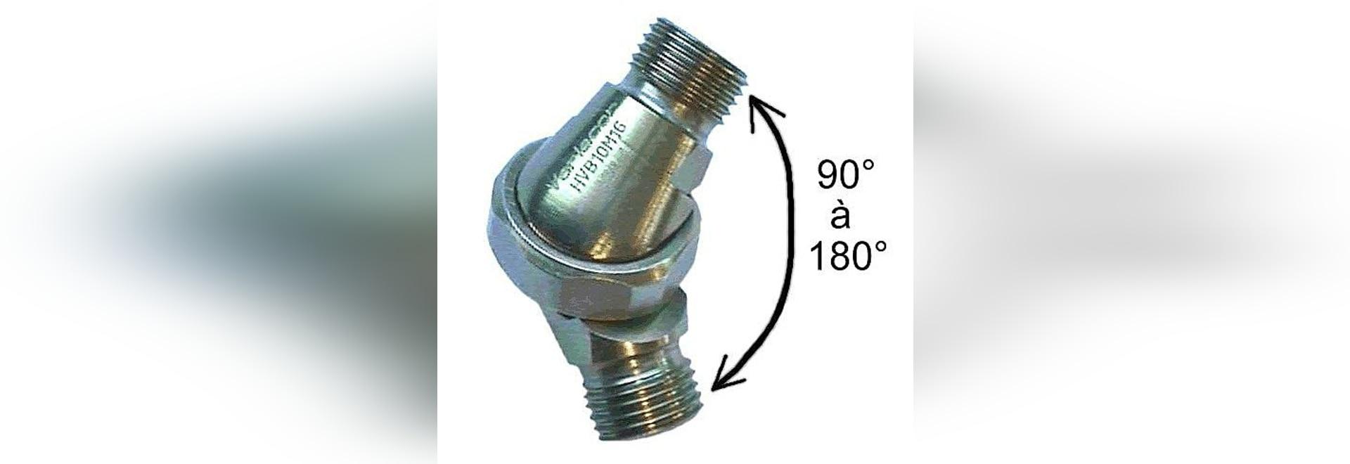 Adjustable angle hydraulic connector
