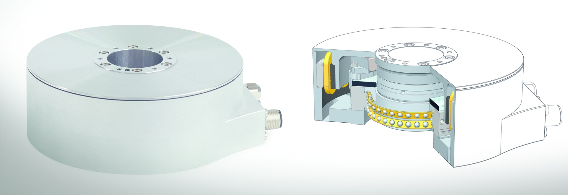 Angle encoder modules with integrated drive motor from HEIDENHAIN: