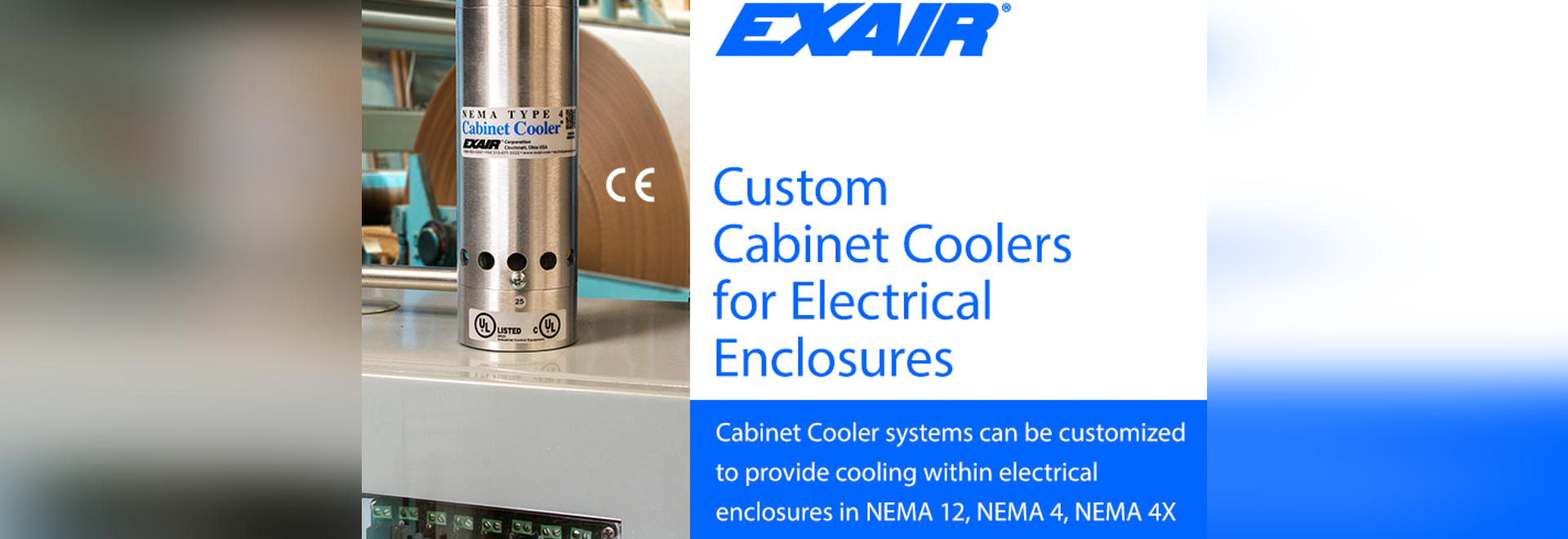 Custom Cabinet Coolers for Electrical Enclosures