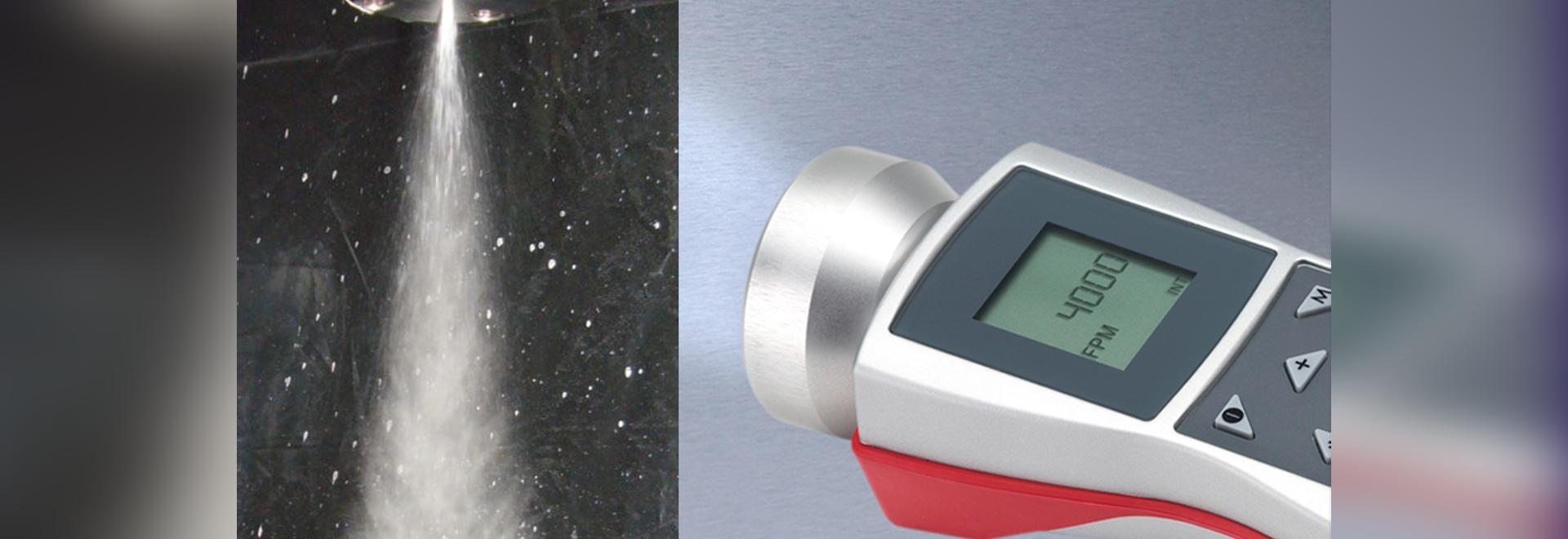 Determining the pulsation rate of sprays with portable stroboscope RT STROBE pocketLED