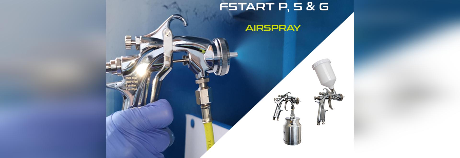 Discover the new complete Fstart spray gun range