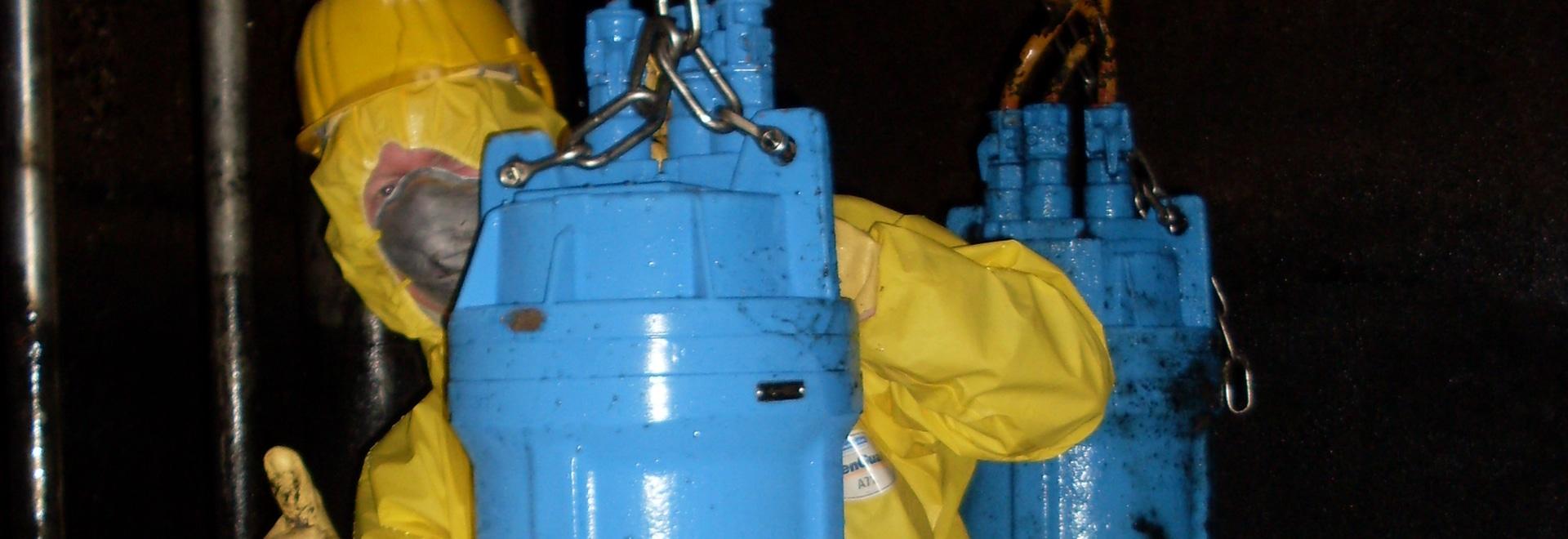 Egger vortex pump in the sump