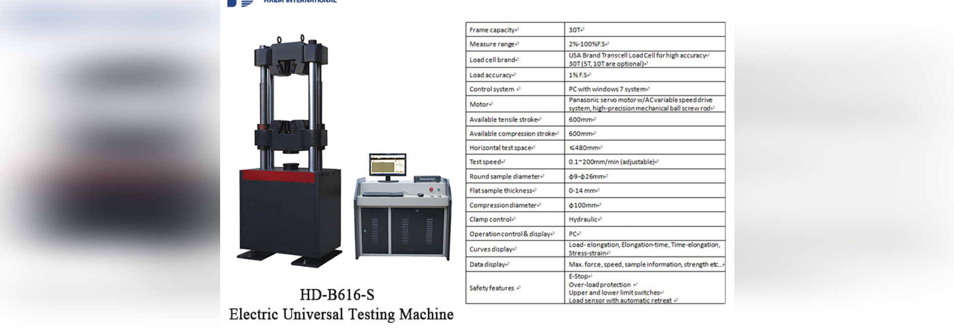 Electro-hydraulic Servo Universal Testing Machine