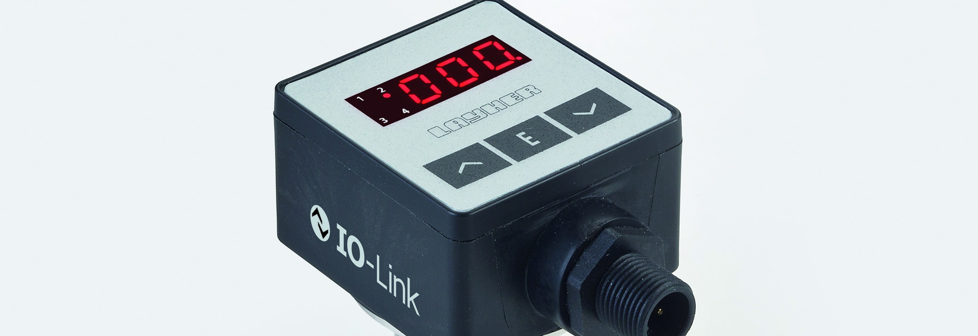Electronic pressure switch with IO-Link Field of application: Machine and plant engineering and process technology