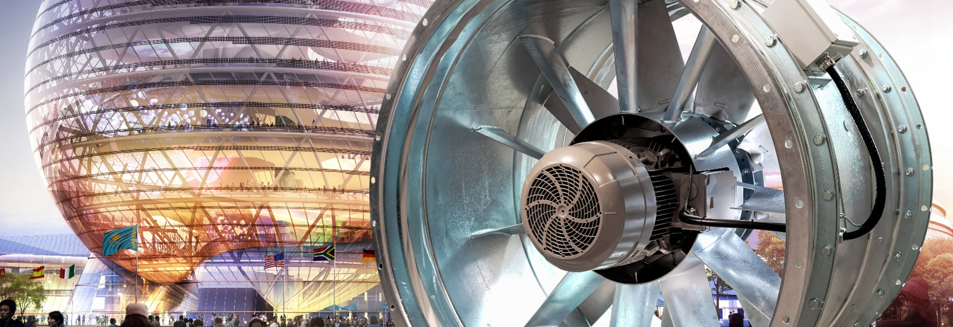 EXPO 2017: 'Nur Alem' with high-performance tube axial fan