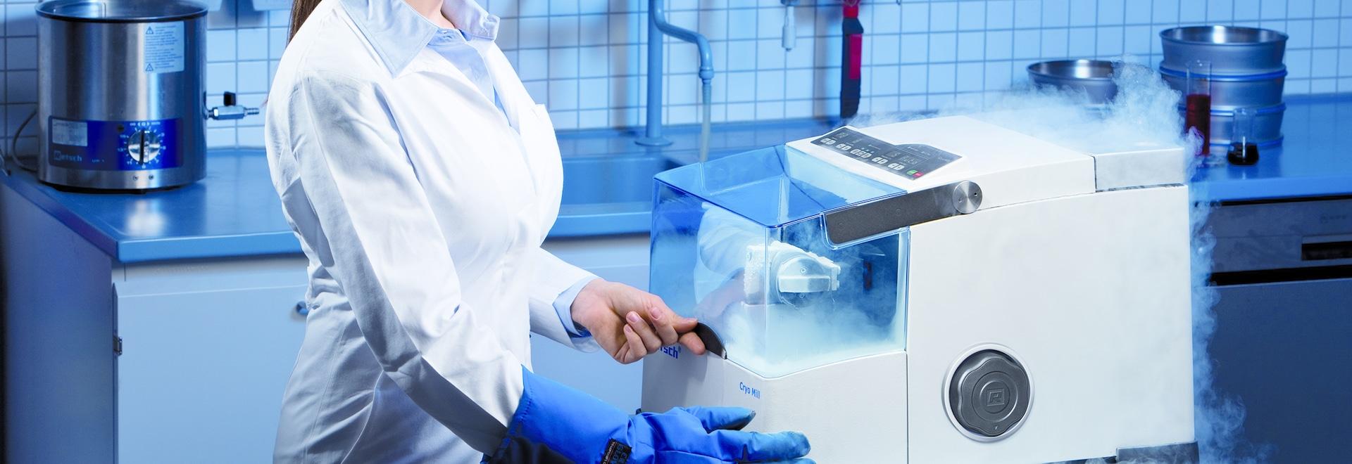 Extensive Offering for Cryogenic Sample Homogenization