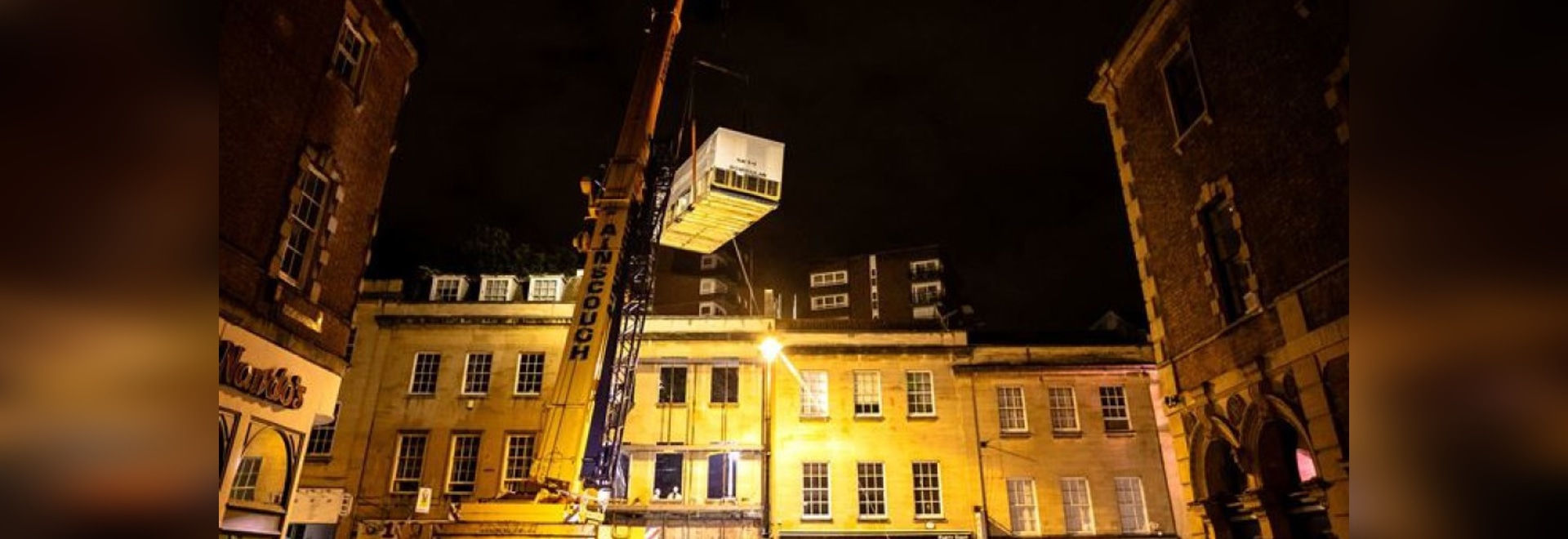 The first box was lifted in the early hours of Monday morning. [Photo: Go Modular Technologies (UK) Ltd]