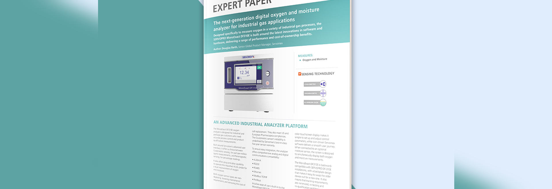 Flexible oxygen and moisture analysis for industrial gas applications – see the expert paper