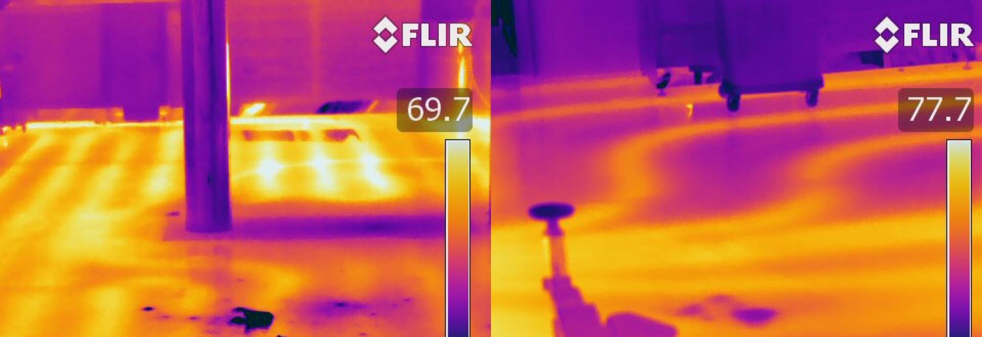 FLIR thermal images