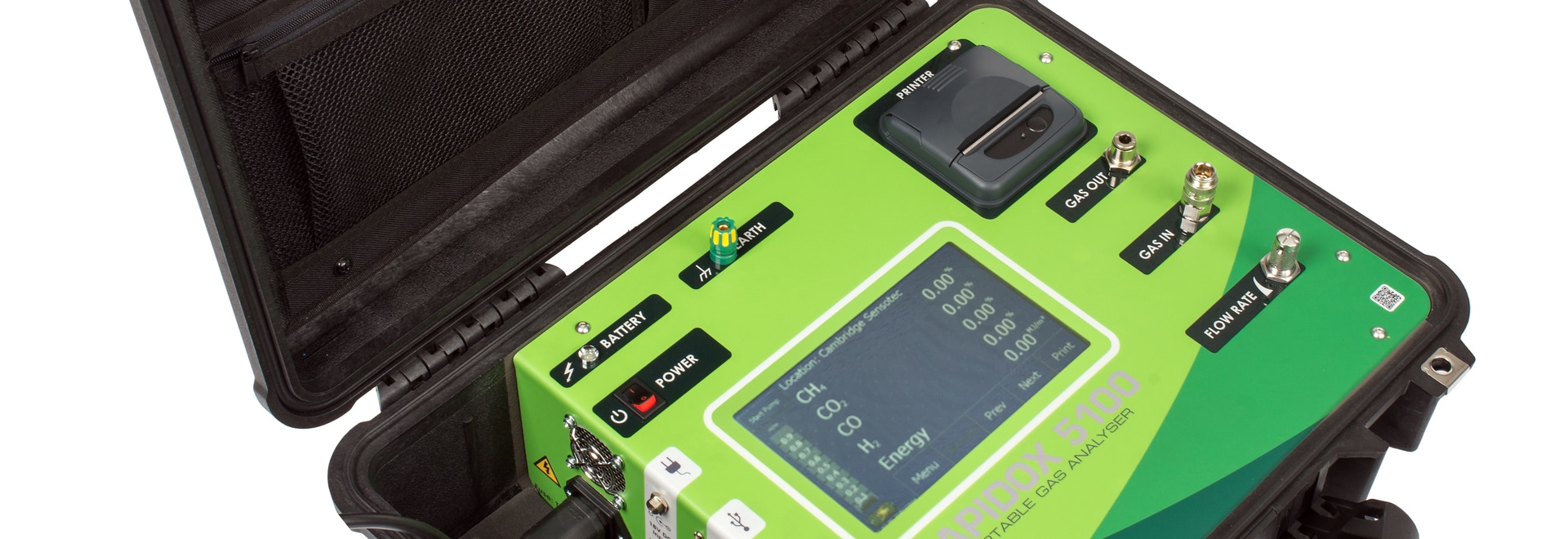 Give your gas analysis requirements the 'green light' – The Rapidox 5100 Portable Multigas Analyser