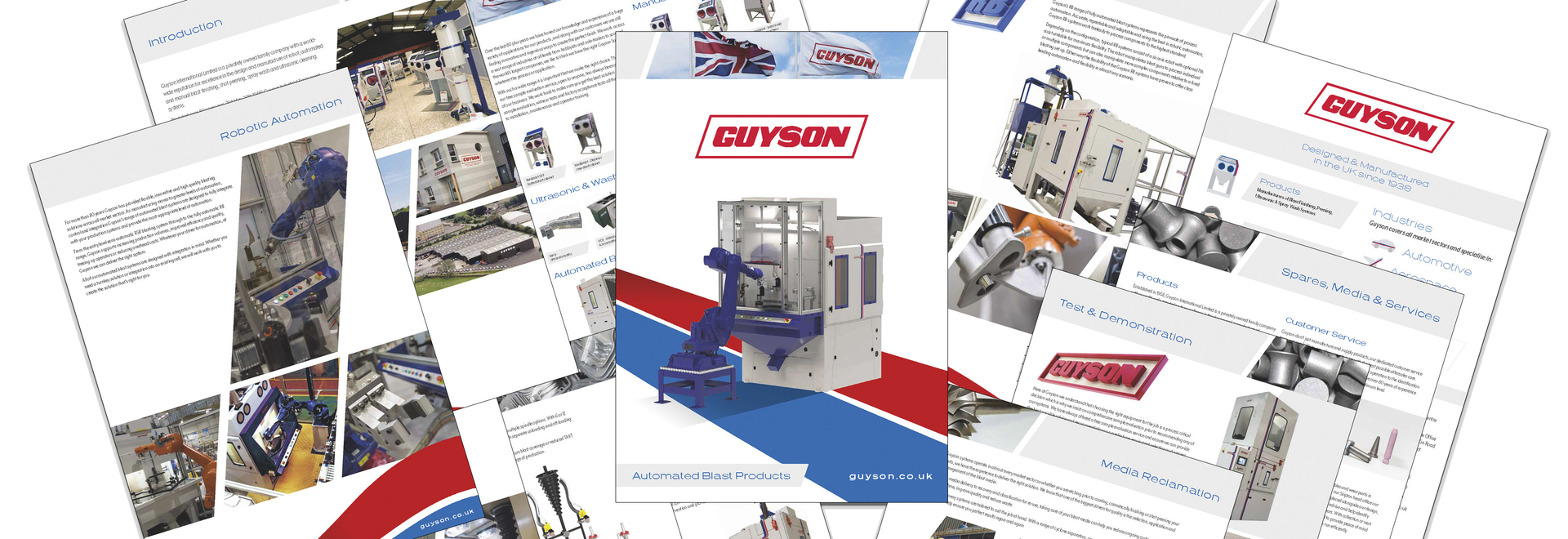 Guyson's new 'Automated Blast Products' brochure