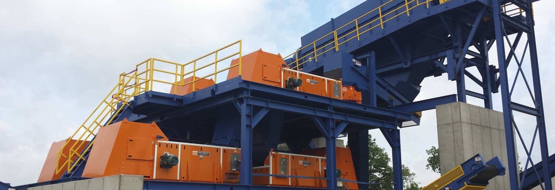 Installation of the RCS non-ferrous recovery system