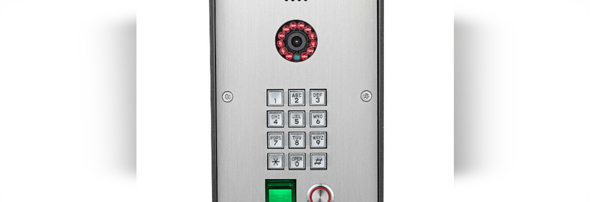 Intercom with Stainless steel sip doorphone audio intercom with finger printing  to open the door for home security