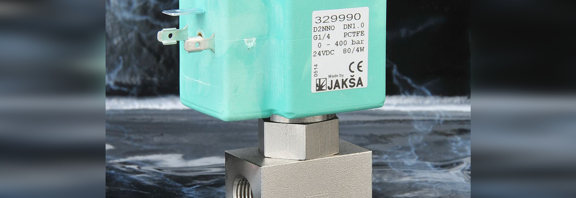 JAKSA solenoid valves for pressures up to 500 bar with sealing pin