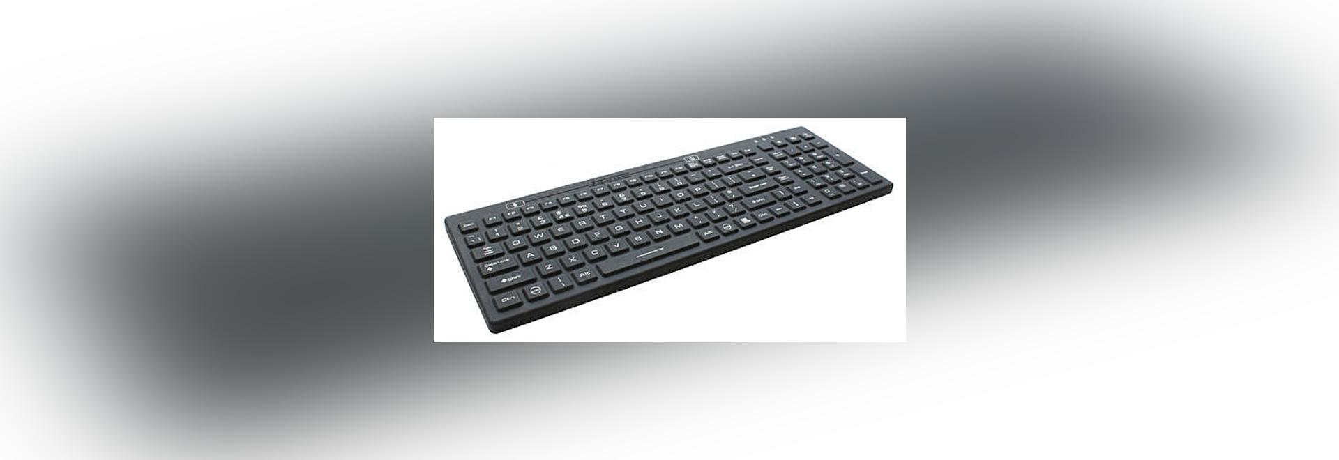 LED Backlit Keyboard Illuminates In Low Light Working Environments