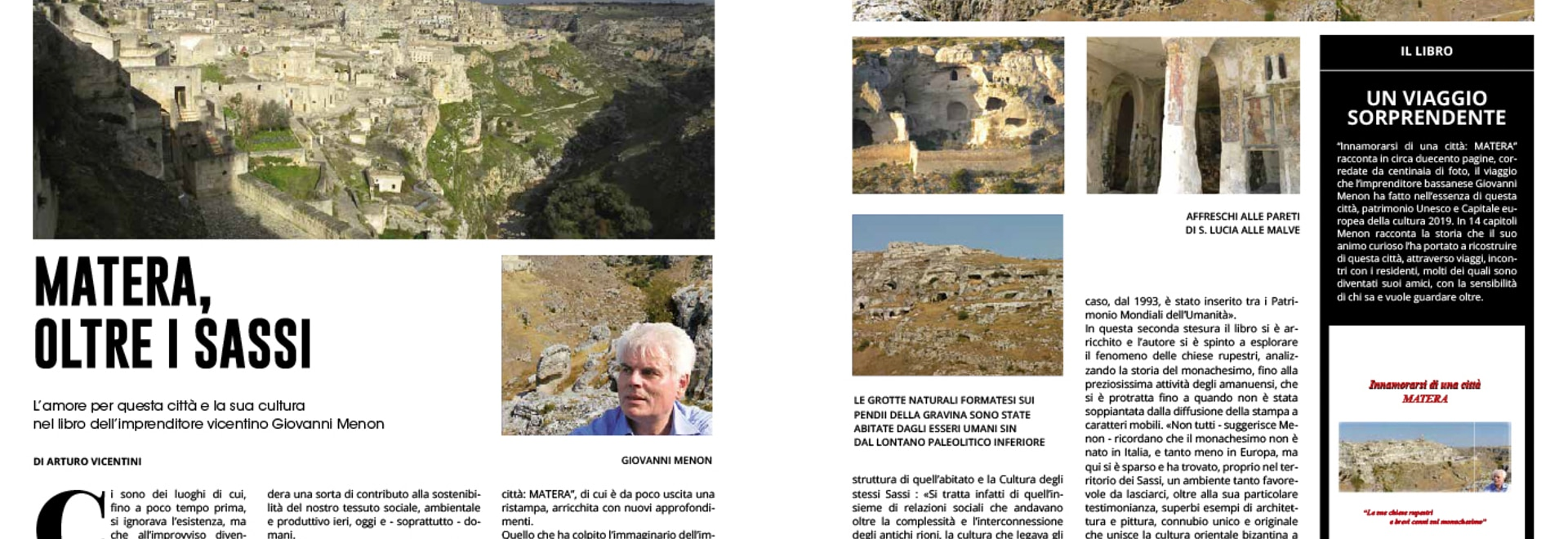 MATERA WITH ITS SASSI SEEN WITH THE EYES IN LOVE OF MR. MENON