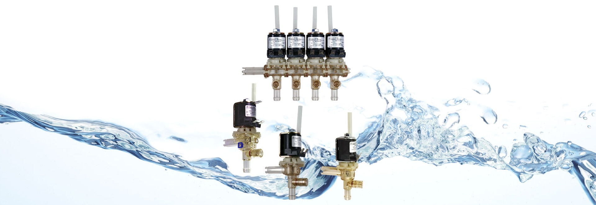 Media separated dispense valves