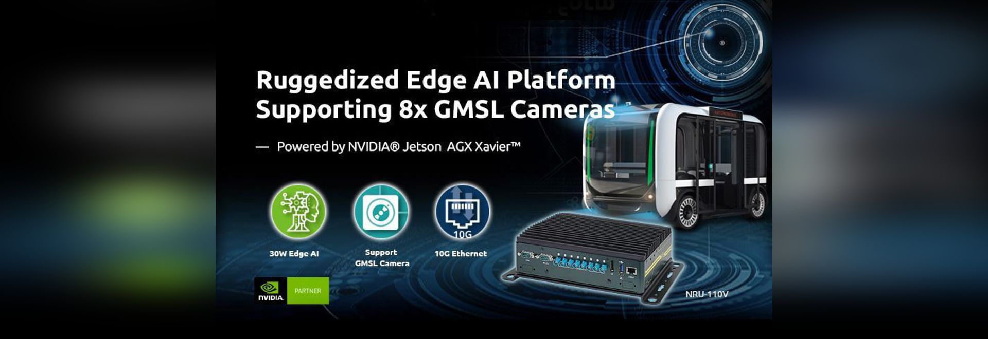 Neousys NRU-110V NVIDIA 8 GMSL camera Jetson AGX Xavier Edge AI Platform