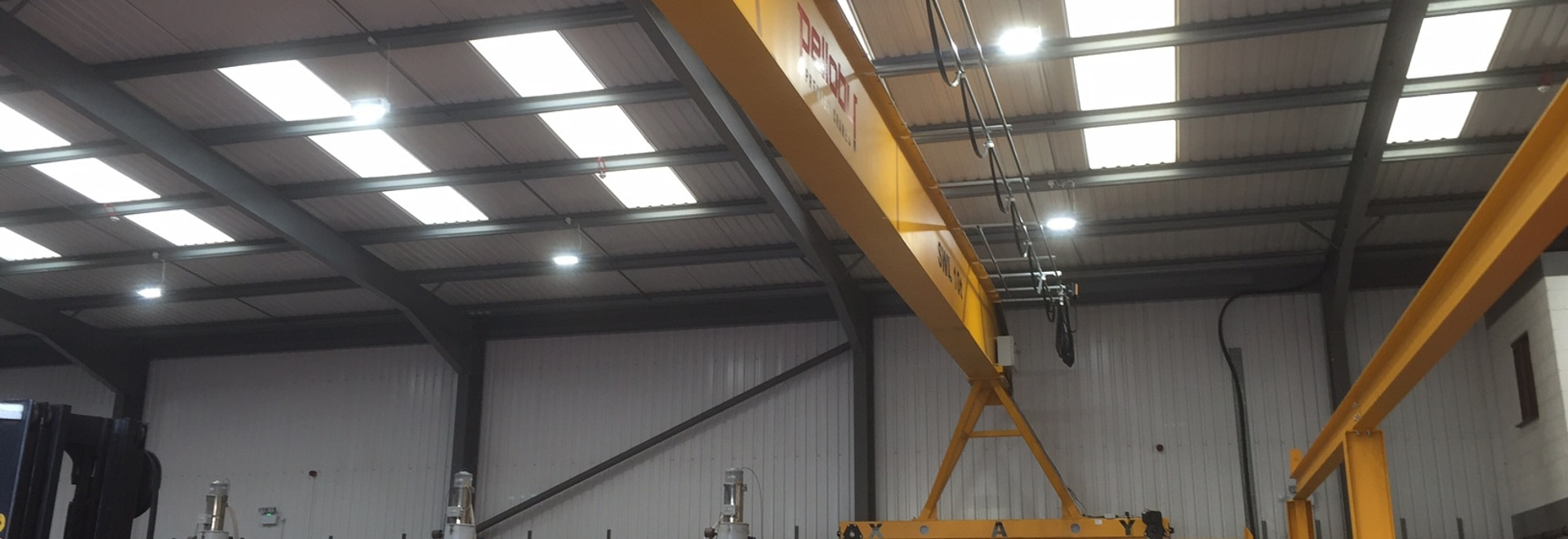 The new crane system at injection moulding specialist Goodfish features a 10-tonne capacity Eurobloc VM3 electric wire-rope hoist from Verlinde
