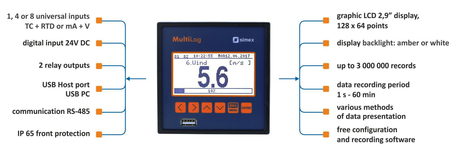 The new MultiLog data recorder on sale from January 2018!