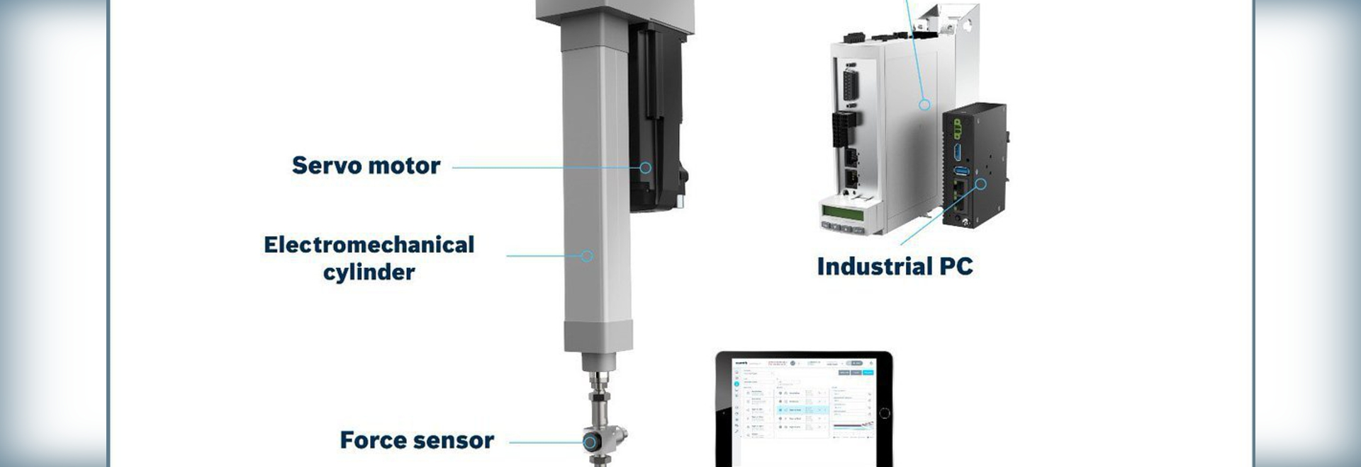 The new Smart Press Kit combines Rexroth's mechanical and electrical components together with software for Plug & Produce.