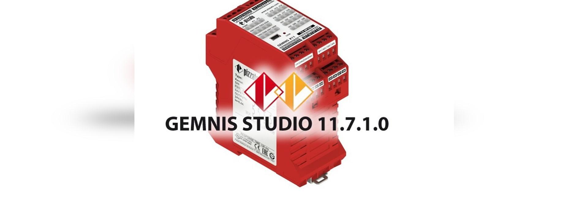 New version of the Gemnis Studio software 11.7