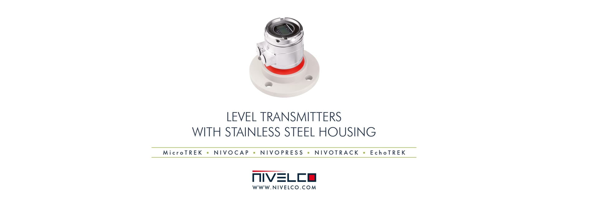 NIVELCO level transmitters with stainless steel housing