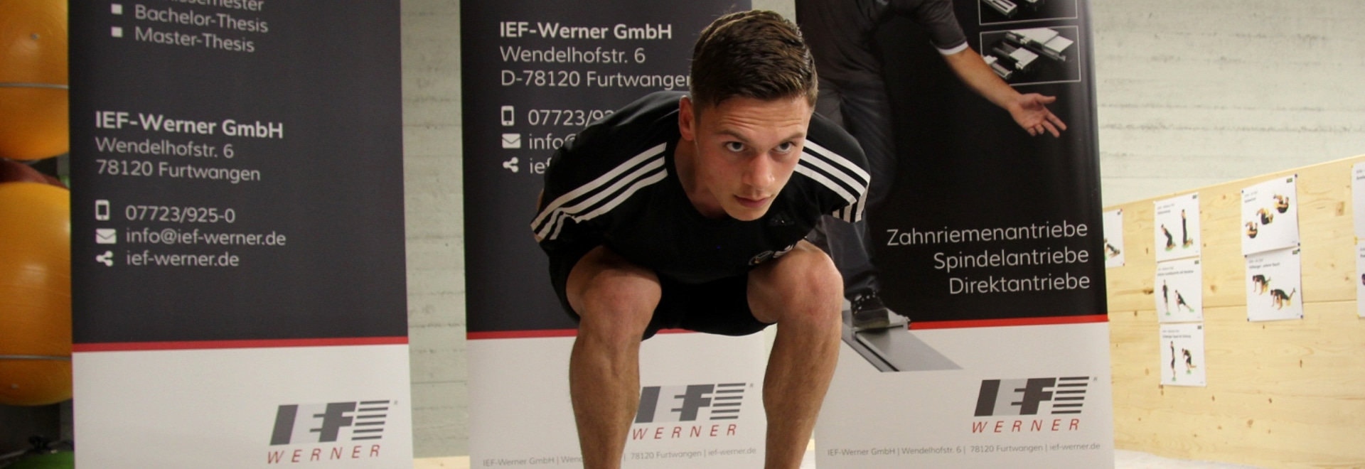 The Nordic combined athlete Paul Schlegel is excited about the jumping simulator of IEF-Werner.