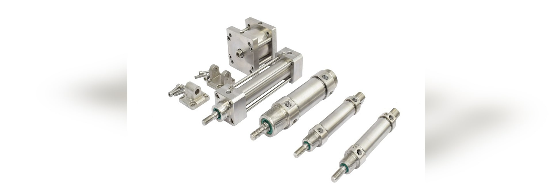 Pneumatic cylinders for food industry