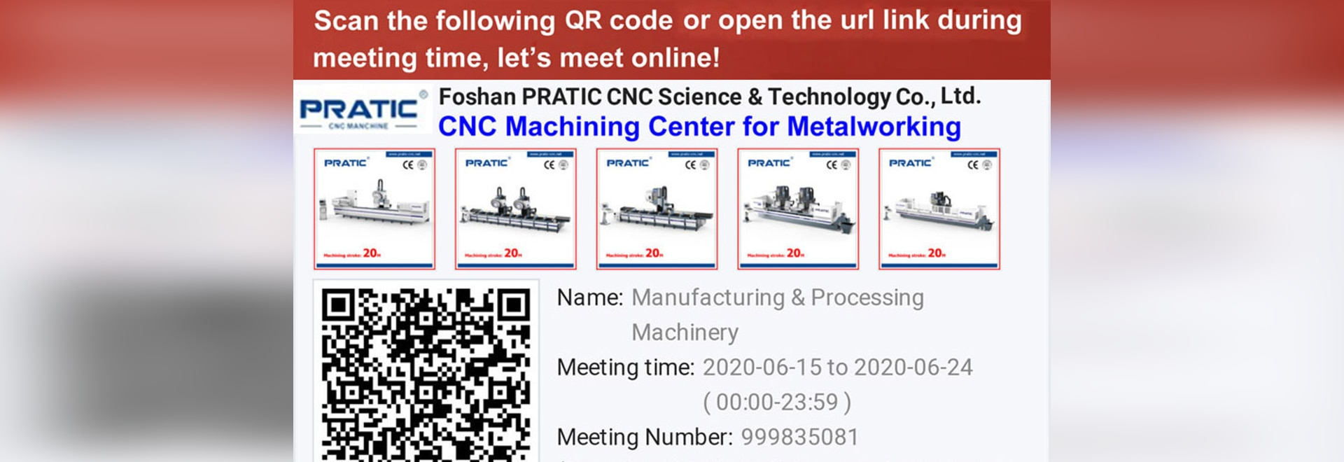 PRATIC Will Take Part in Online Canton Fair through Made-in-China from June 15 to June 24
